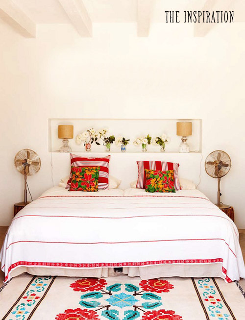 Bedroom-red-white-airy-inspiration