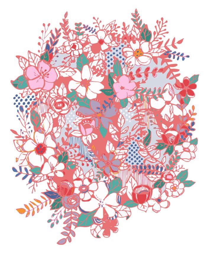 Flora Party 8%22 x 10%22 web