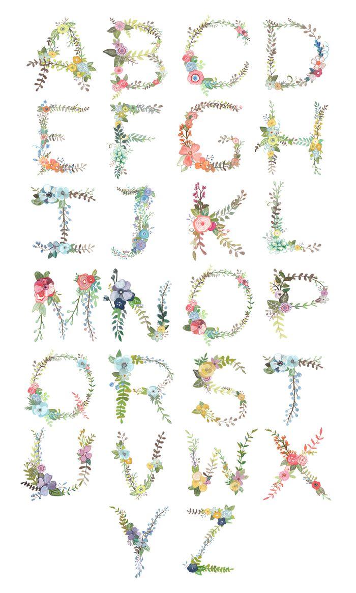 Floral Alphabet web